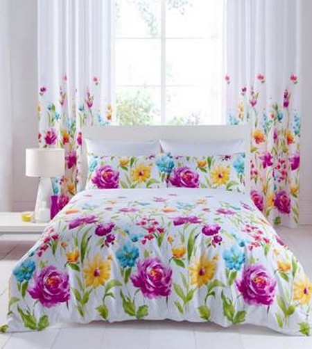 Quilt Duvet Cover Bedding Bed Sets By Catherine Lansfield Floral Bloom 2 Sizes