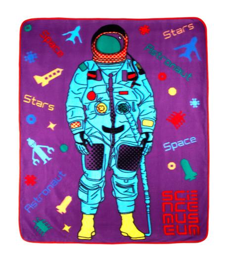 Science museum astronaut fleece blanket throw ebay for Outer space fleece